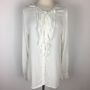 Sundance Ruffle Button Front Blouse size Medium